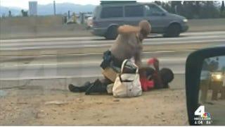Cellphone video captured California Highway Patrol Officer Daniel Andrew beating Marlene Pinnock in July 2014.NBCLA.com screenshot