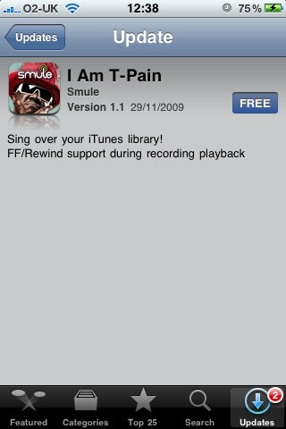 Illustration for article titled I Am T-Pain App Version 1.1 Lets You Sing Over Your iTunes Library