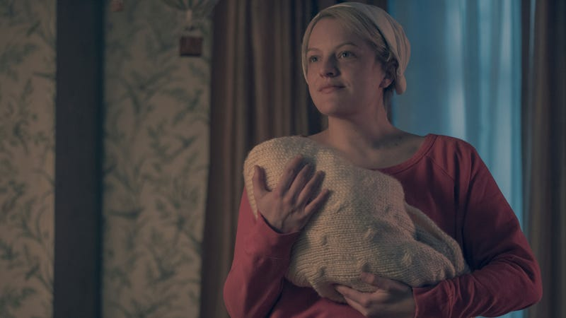 June/Offred (Elisabeth Moss) in the season two finale of Hulu's The Handmaid's Tale.