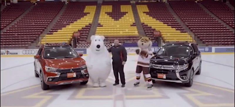 Someone Please Help This Poor Car Dealership Mascot - Mitsubishi dealerships