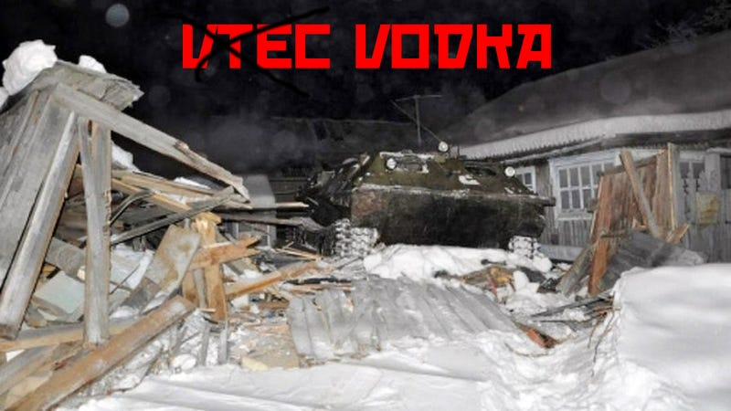 Illustration for article titled Drunk Russian Mechanic Crashed Into Home With A Tank