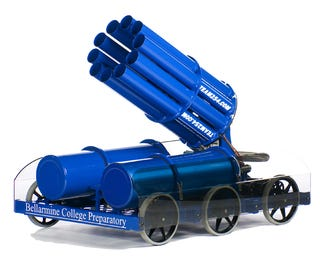 Illustration for article titled 10-Barrel T-Shirt Gatling Gun Will Terrify You Into Staying Past the 3rd Quarter