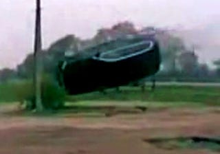 Illustration for article titled VIDEO: BMW X5 Flipped In FAILtacular Fashion