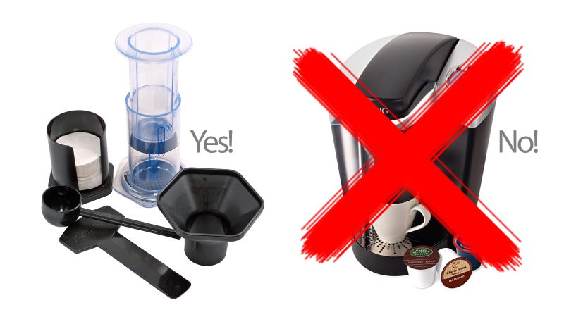 Illustration for article titled How to Beat a K-Cup With Simple Coffee Gadgets