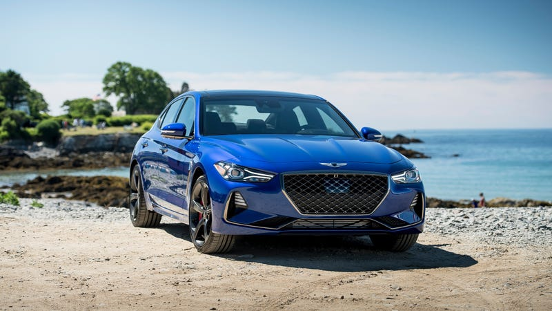 Genesis gave the G70 a manual transmission, though he knew that hardly anyone would buy one.