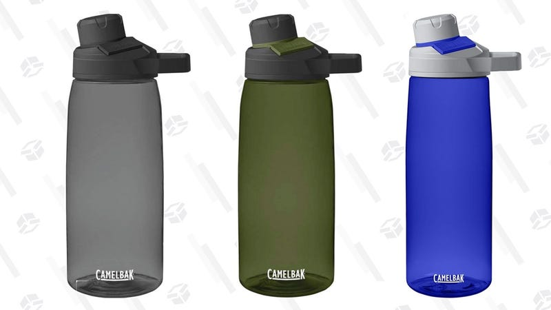 CamelBak Chute Mag Water Bottle, 32oz, Charcoal | $10 | AmazonCamelBak Chute Mag Water Bottle, 32oz, Olive | $10 | AmazonCamelBak Chute Mag Water Bottle, 25oz, Iris | $7 | Amazon