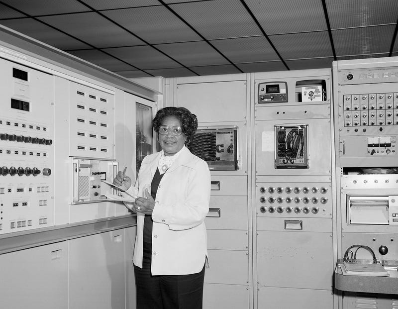 Mary Jackson working at NASA Langley (Wikimedia Commons)