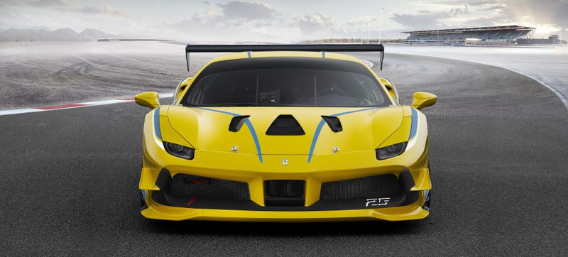 Illustration for article titled The Ferrari 488 Challenge Race Car Is A Sleepy Fish That Wants To Nap