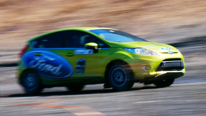 One of Team O'Neil Rally School's Fiestas, with as much oversteer as you want, if you know how to drive. Photo Credit: Raphael Orlove