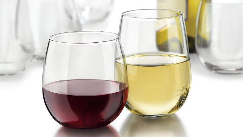 Libbey Vina Stemless 12-Piece Wine Glass Set, $17