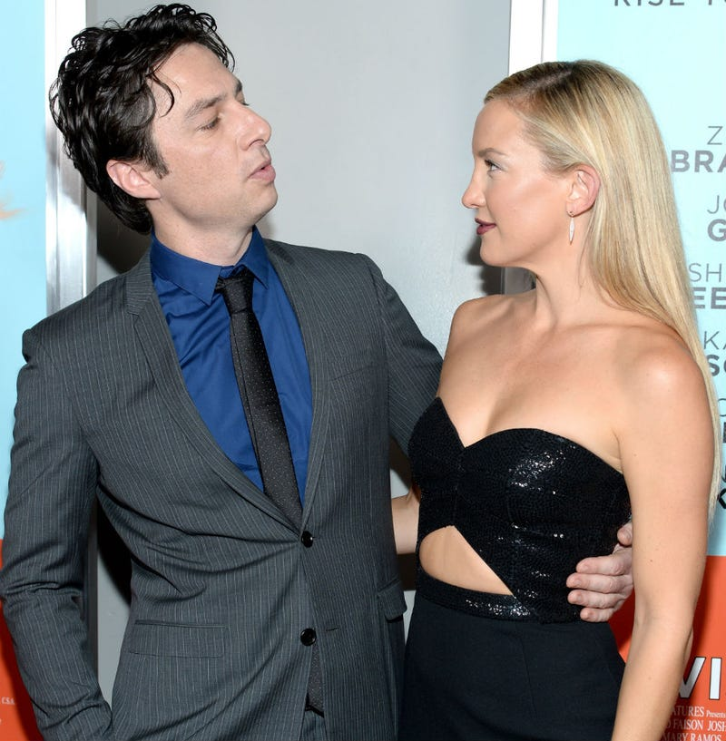 Illustration for article titled You Need to Caption This Photo of Zach Braff and Kate Hudson