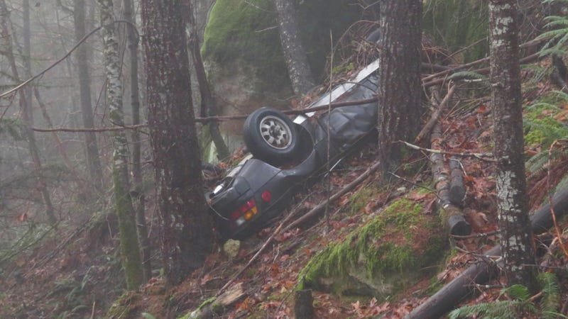 Porsche stolen in 1991 found decades later flipped over in OR woods