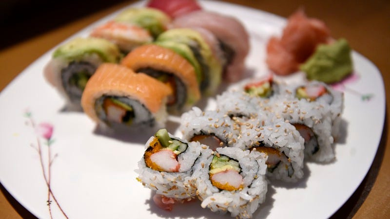 California Roll, forefront, alongside Rainbow Roll at Namiko's Sushi Bar in Colorado. (Photo: Seth McConnell/The Denver Post via Getty Images)
