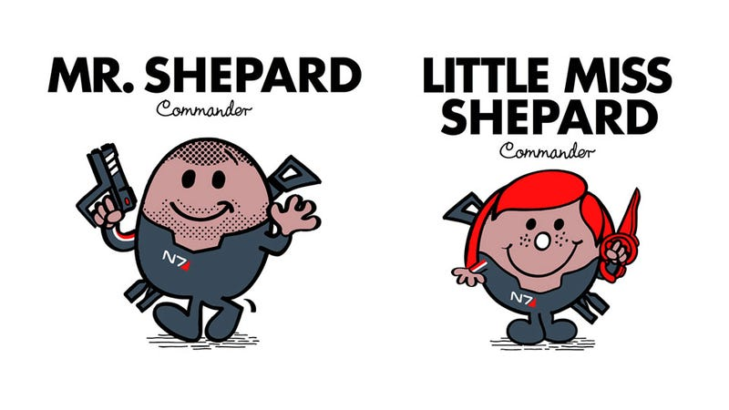 Illustration for article titled Mr. Shepard and Little Miss Shepard Will Save the Galaxy With Sweetness