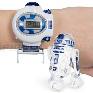 Illustration for article titled Wristwatch With Tiny R/C R2-D2 May Be Best Office Distraction Toy Ever