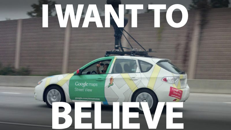 Illustration for article titled Yes, this Google Street View Driver really did flip me the bird