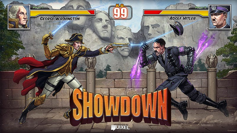 Illustration for article titled George Washington vs Adolf Hitler: The Greatest Fighting Game We Never Played