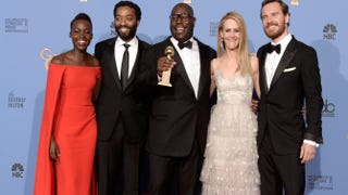 Lupita Nyong'o, Chiwetel Ejiofor, Steve McQueen, Sarah Paulson and Michael FassbenderKevin Winter/Getty Images