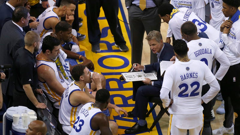 Illustration for article titled Steve Kerr Reminds Warriors To Seem Sad DeMarcus Cousins Injured