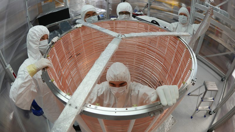 Inside the detector (Image: Christopher Tunnell/the XENON collaboration)