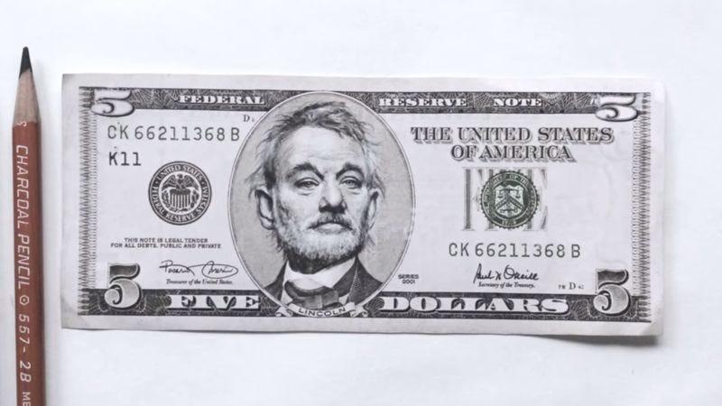 """""""5 Dollar Bill Murray"""" by Ginozko (Screenshot: YouTube)"""
