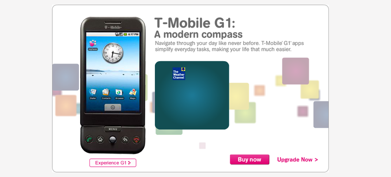 Illustration for article titled T-Mobile Is Still Advertising the First Ever Android Phone