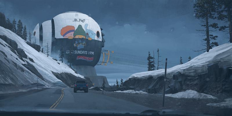 Latest Sci-Fi Art From Simon Stålenhag Captures The Strangeness Of The Road Ahead