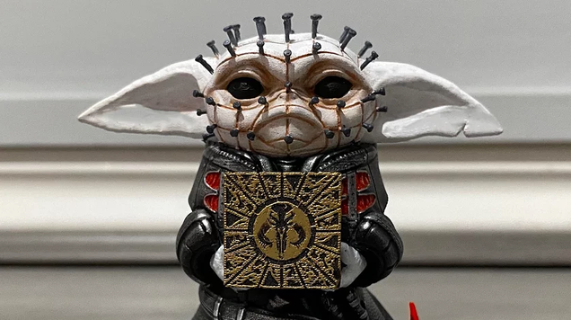 Such sights to show you, Pinhead Baby Yoda has