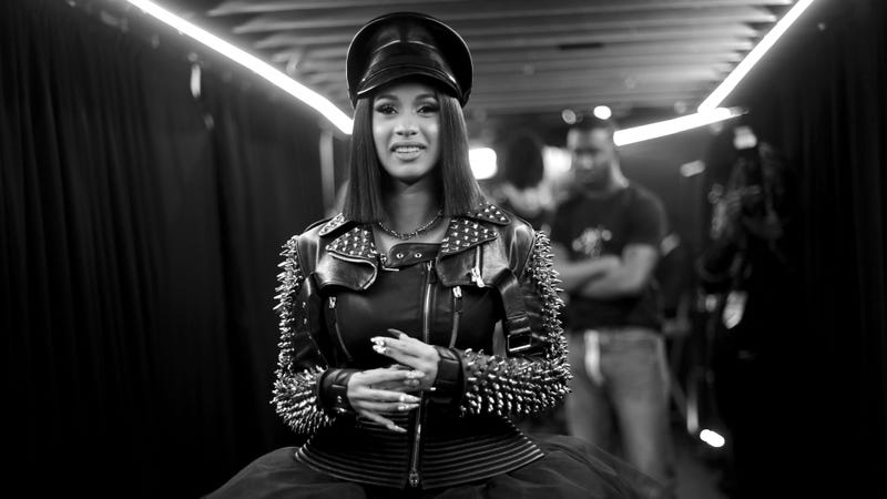 Cardi B backstage at the iHeartRadio Music Awards.