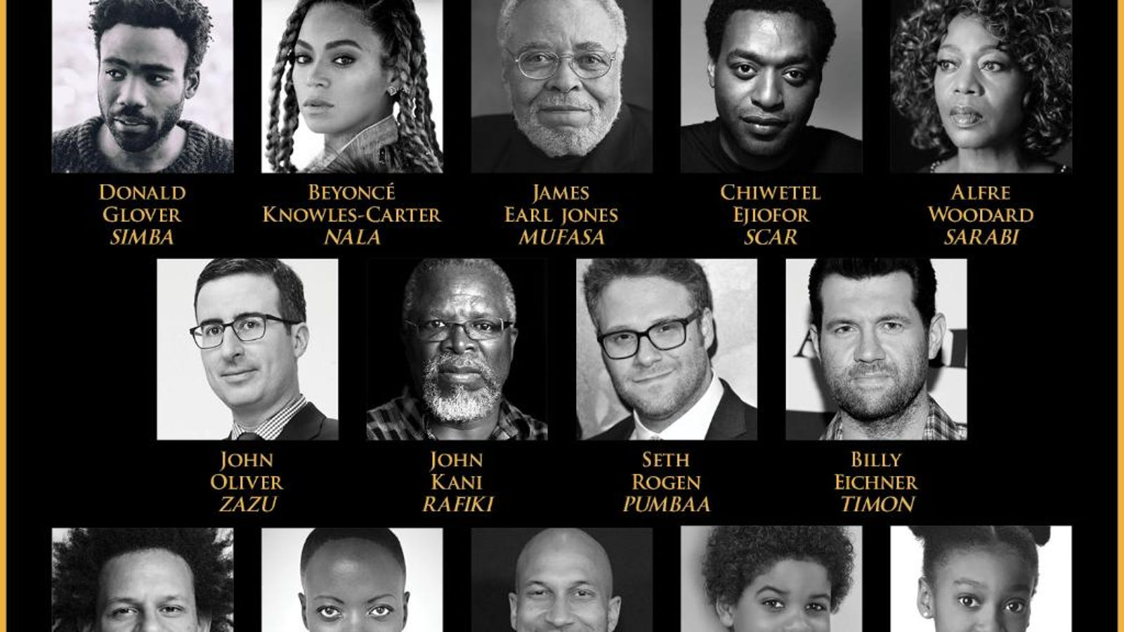 the blackest disney movie ever  the lion king  will have the blackest cast ever u2014including queen bey