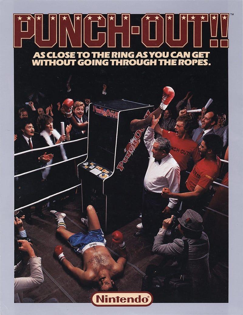 Illustration for article titled Vintage Punch-Out!! Arcade Flyer
