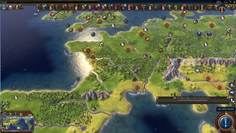 Illustration for article titled Silly Civilization VI Map Recreates Earth, Melts Graphics Cards