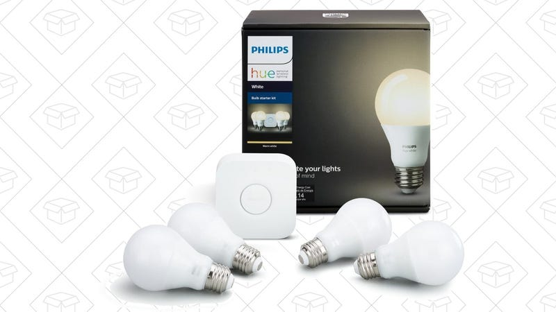 Philips Hue White Starter Kit, $60