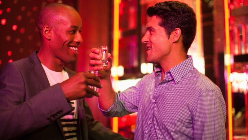 Illustration for article titled Man Considers Nodding Approvingly After Friend's Drink Purchase