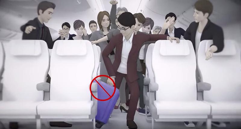 Illustration for article titled La otra razón por la que te piden que abandones tu equipaje de mano durante un aterrizaje de emergencia