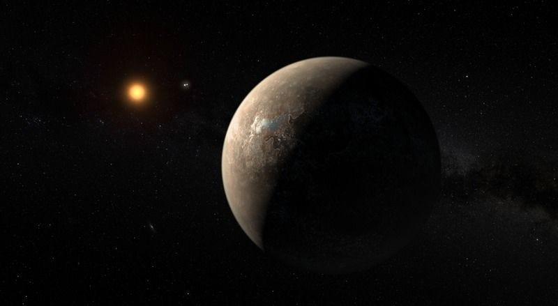 Interpretación de un artista del planeta en la órbita de Próxima Centauri. Imagen ESO / M. Kornmesser.