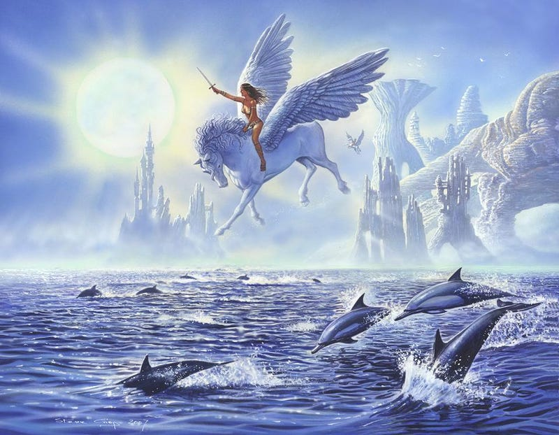 Illustration for article titled This picture has everything you could ever want, including dolphins