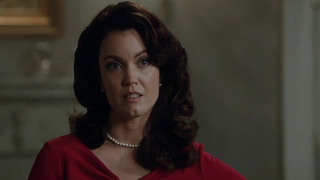 "Bellamy Young as Mellie Grant, the wife of President Fritz GrantScreengrab from Scandal episode ""Everything's Coming Up Mellie"""
