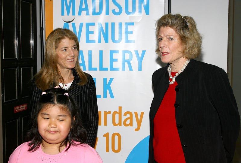 Caroline Kennedy, student artist Lisa Zheng and  Museum of Modern Art President Emerita Agnes Gund (Getty Images)