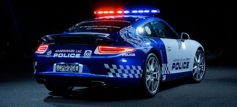 Illustration for article titled Australian Cops Got This Ominously Beautiful Porsche 911 Police Car