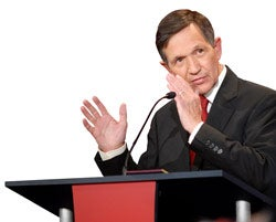 Illustration for article titled On The Campaign Trail With Dennis Kucinich