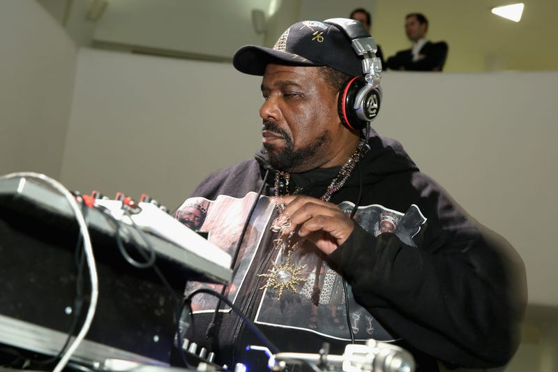 Afrika Bambaataa performs during the 2015 Guggenheim Young Collectors party in New York on March 19, 2015.Cindy Ord/Getty Images