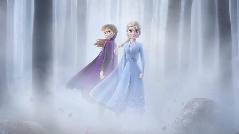 Crop of the new Frozen II poster, which debuted yesterday.