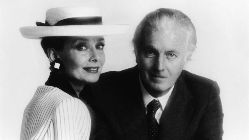 Givenchy with Audrey Hepburn in the mid-'80s.