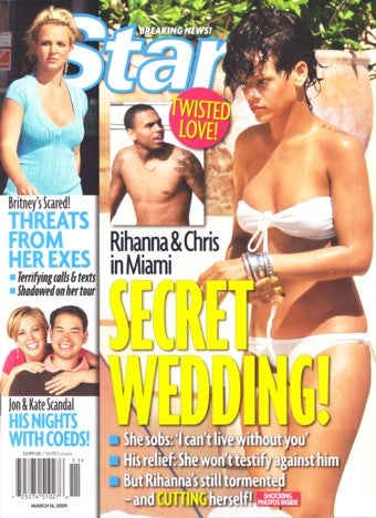 Illustration for article titled This Week In Tabloids: Veiled Vows For Chris And Rihanna