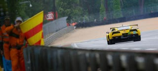 Illustration for article titled Corvette Racing Pulling No. 63 C7.R From Le Mans After Crash