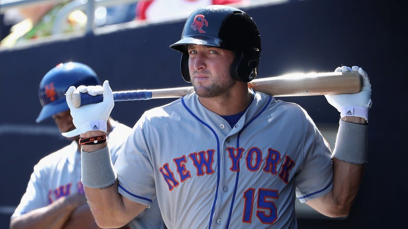 Illustration for article titled Tim Tebow, Seated At The Right Hand Of His Former Agent And Current Mets GM, Will Rise Again To Triple-A