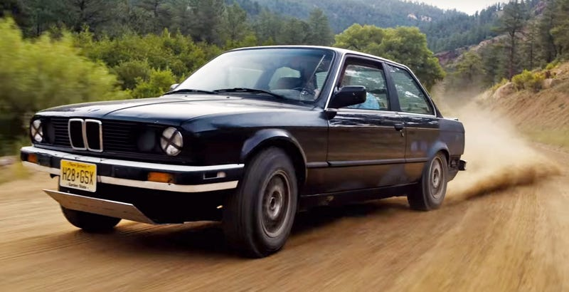 "Matt Farah (I think) In ""the best car ever:"" a beat-up E30 (Image: Drive/NBC)"