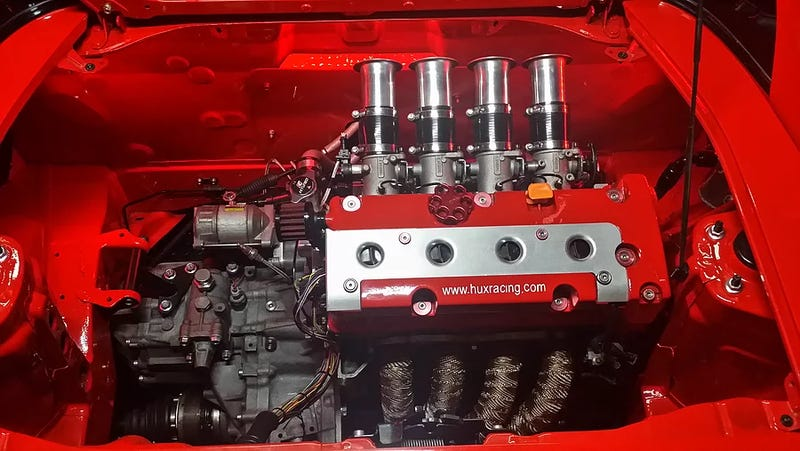 Image via Hux Racing, who makes K20 swap kits for the SW20 MR2