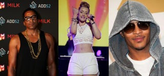 Q-Tip; Iggy Azalea; T.I.  Donald Bowers/Getty Images for Samsung; Larry Marano/Getty Images for Clear Channel; VALERIE MACON/AFP/Getty Images